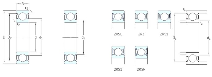 5 mm x 8 mm x 2,5 mm  SKF W627/5-2Z Stainless steel deep groove ball bearing W 627/5-2Z Bearing size: 5x8x2.5mm