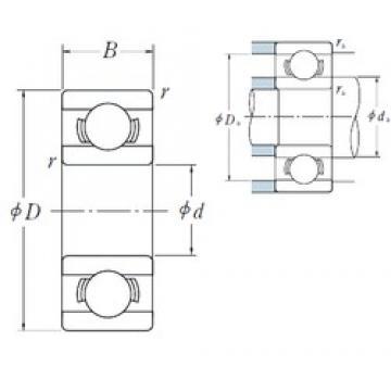 6 mm x 19 mm x 6 mm  High quality Japan NSK miniature deep groove ball bearings nsk 626 6X19X6 mm