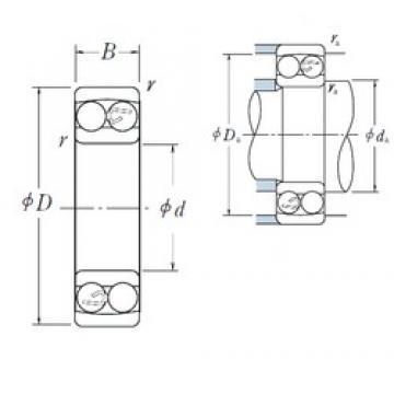 6 mm x 19 mm x 6 mm  Chrome steel NSK self-aligning ball bearing 126 6X19X6 mm