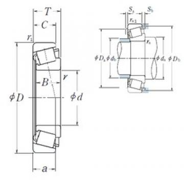 50 mm x 110 mm x 27 mm  Japan automotive bearing NSK taper roller bearing HR30310J 50x110x27 mm