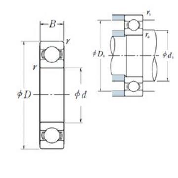 40 mm x 62 mm x 12 mm  NSK Deep groove ball bearing 6908 ZZ 6908 RS Thin wall motorcycle bearing 61908