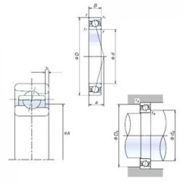 100 mm x 150 mm x 24 mm  Japan NSK Angular Contact Ball Bearing 100BNR10X