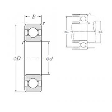 50 mm x 110 mm x 27 mm  NTN 6310 Deep Groove Ball bearing buddy sizes 50X110X27