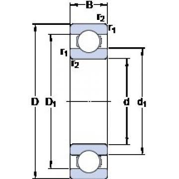 60 mm x 78 mm x 10 mm  SKF 61812 Deep groove ball bearings 61812 Bearing size 60X78X10