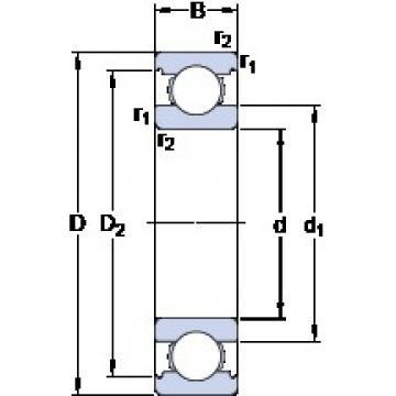 100 mm x 150 mm x 24 mm  SKF 6020 Deep groove ball bearings 6020 Bearing size 100X150X24