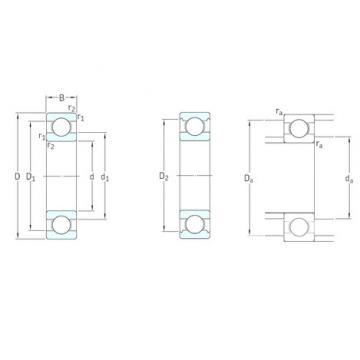 6 mm x 19 mm x 6 mm  SKF Bearing 626 Deep Groove Ball Bearing 626-2RS 626-2Z 6X19X6 mm