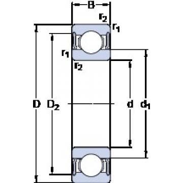 60 mm x 78 mm x 10 mm  SKF 61812-2RS1 Deep groove ball bearing size: 60x78x10 mm 61812-2RS1/C3