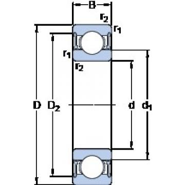 60 mm x 78 mm x 10 mm  SKF 61812-2RZ Deep groove ball bearing size: 60x78x10 mm 61812-2RZ/C3