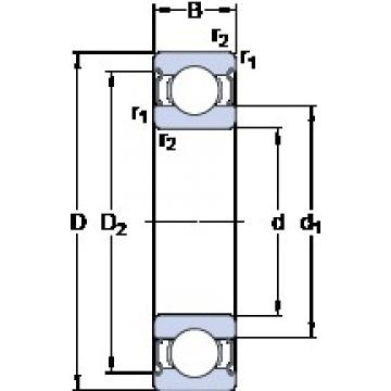 100 mm x 150 mm x 24 mm  SKF 6020-2Z Deep groove ball bearing 6020-Z Bearings size: 100x150x24 mm 6020-2Z/C3