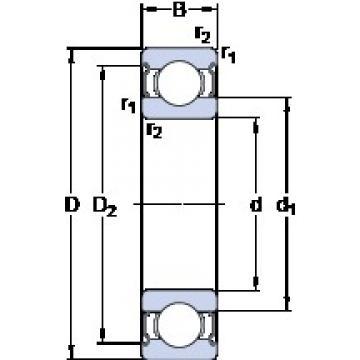 4 mm x 12 mm x 4 mm  SKF 604-2Z Deep groove ball bearing 604-Z Bearings size: 4x12x4 mm 604-2Z/C3