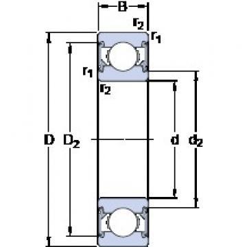 6 mm x 19 mm x 6 mm  SKF 626-2RSH Deep groove ball bearing 626-RSH Bearings size: 6x19x6 mm 626-2RSH/C3