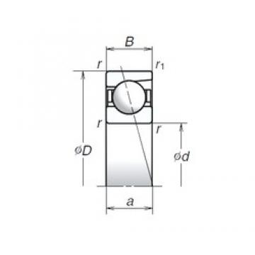 6 mm x 19 mm x 6 mm  NSK 726A Angular contact ball bearing 726A Bearing size: 6x19x6mm