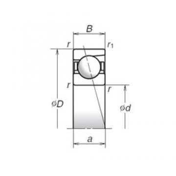 6 mm x 19 mm x 6 mm  NSK 726C Angular contact ball bearing 726C Bearing size: 6x19x6mm